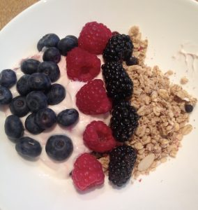 Granola, Fresh Berries and Greek Yogurt